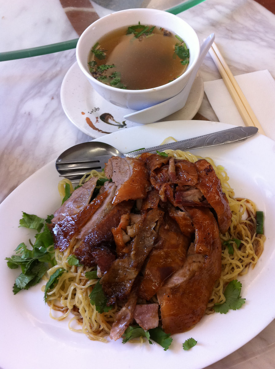 Roast duck (boneless) noodles, dry style