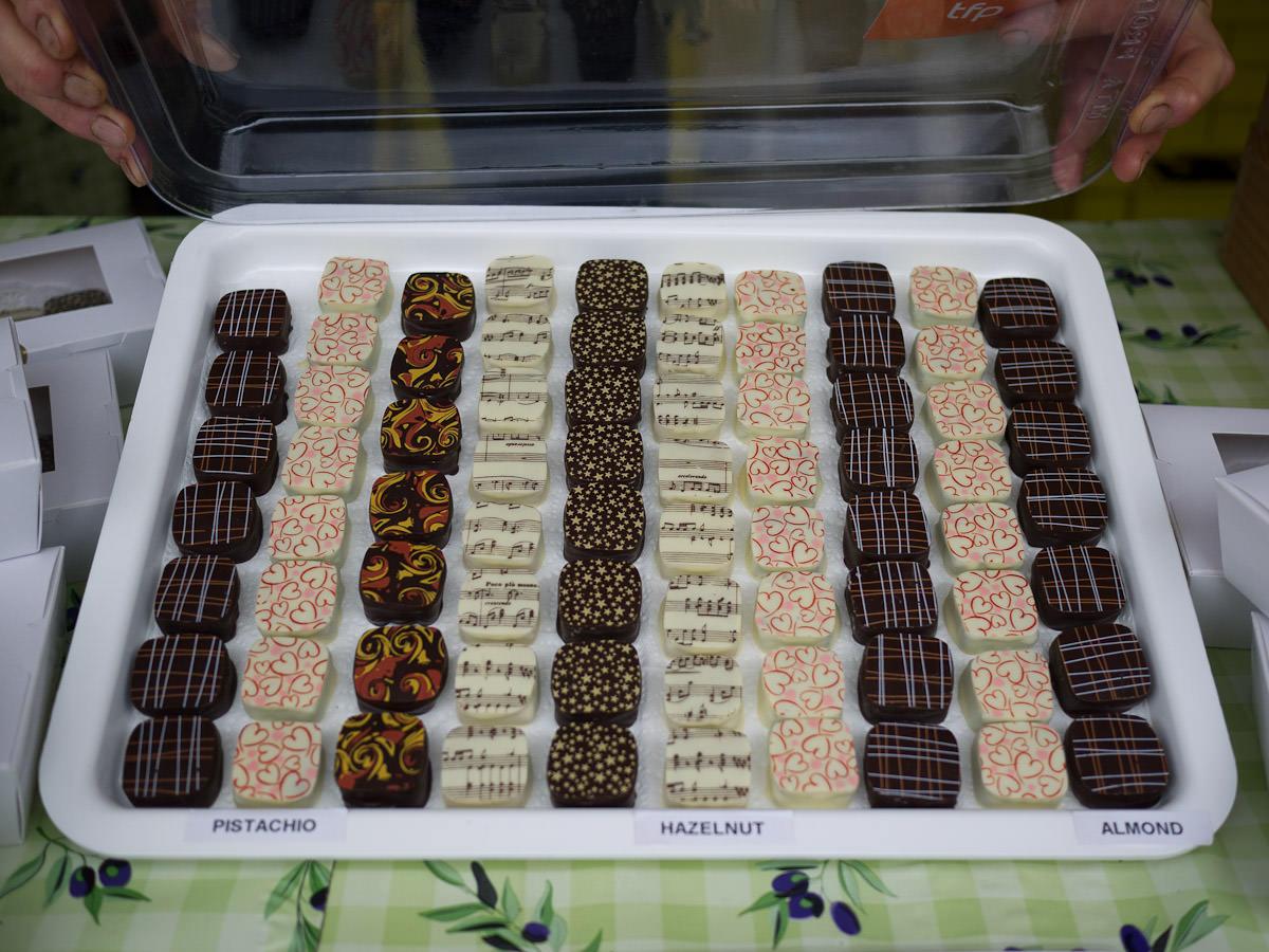 Handmade chocolate truffles, York Olive Oil Co