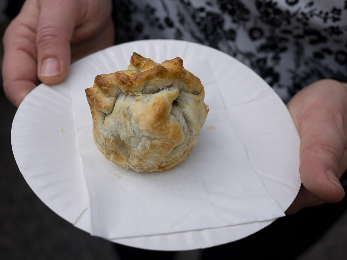 Wild mushroom and truffle pie from Creative Catering