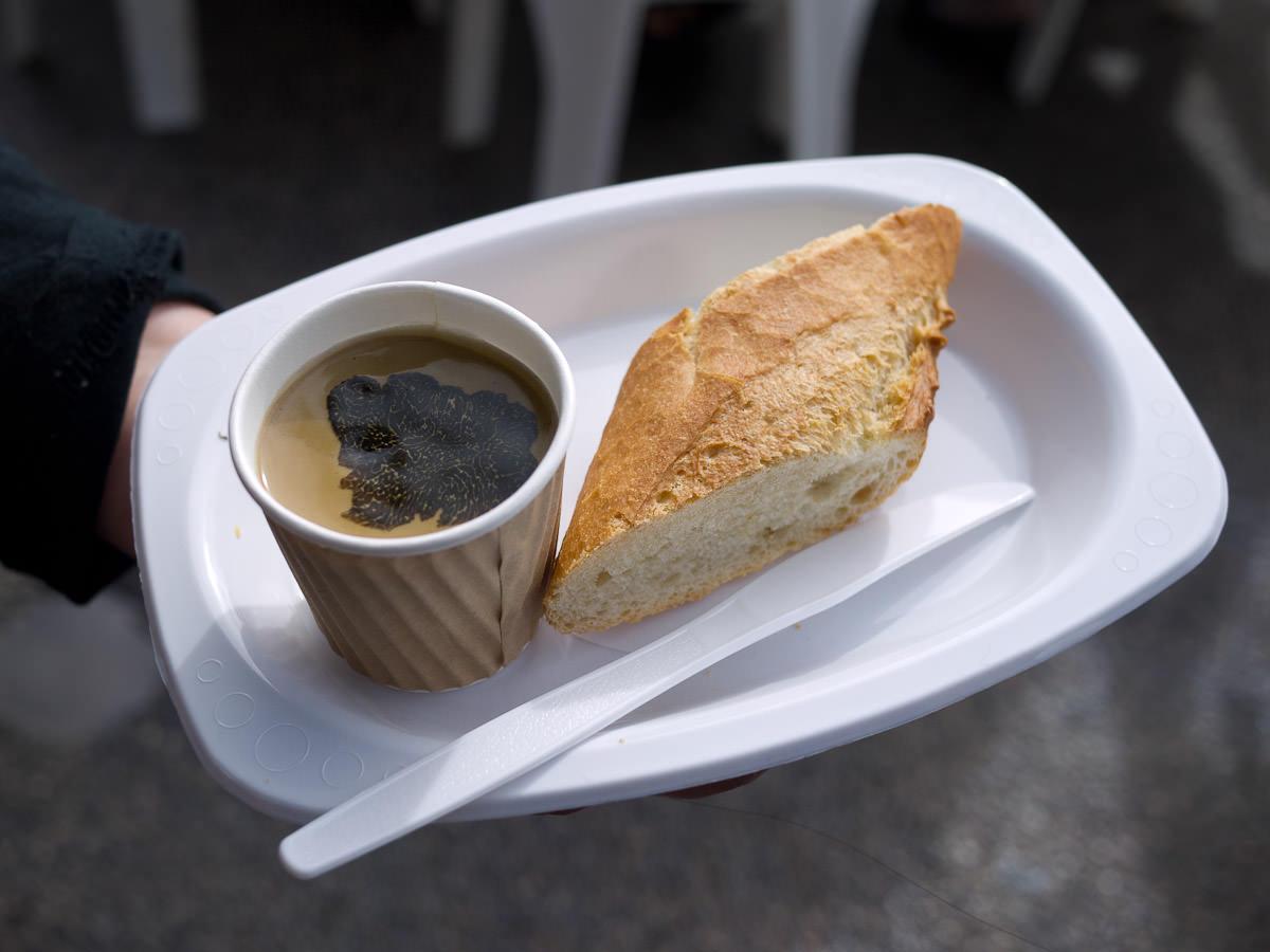 Loose Box's pate de foie with crusty baguette