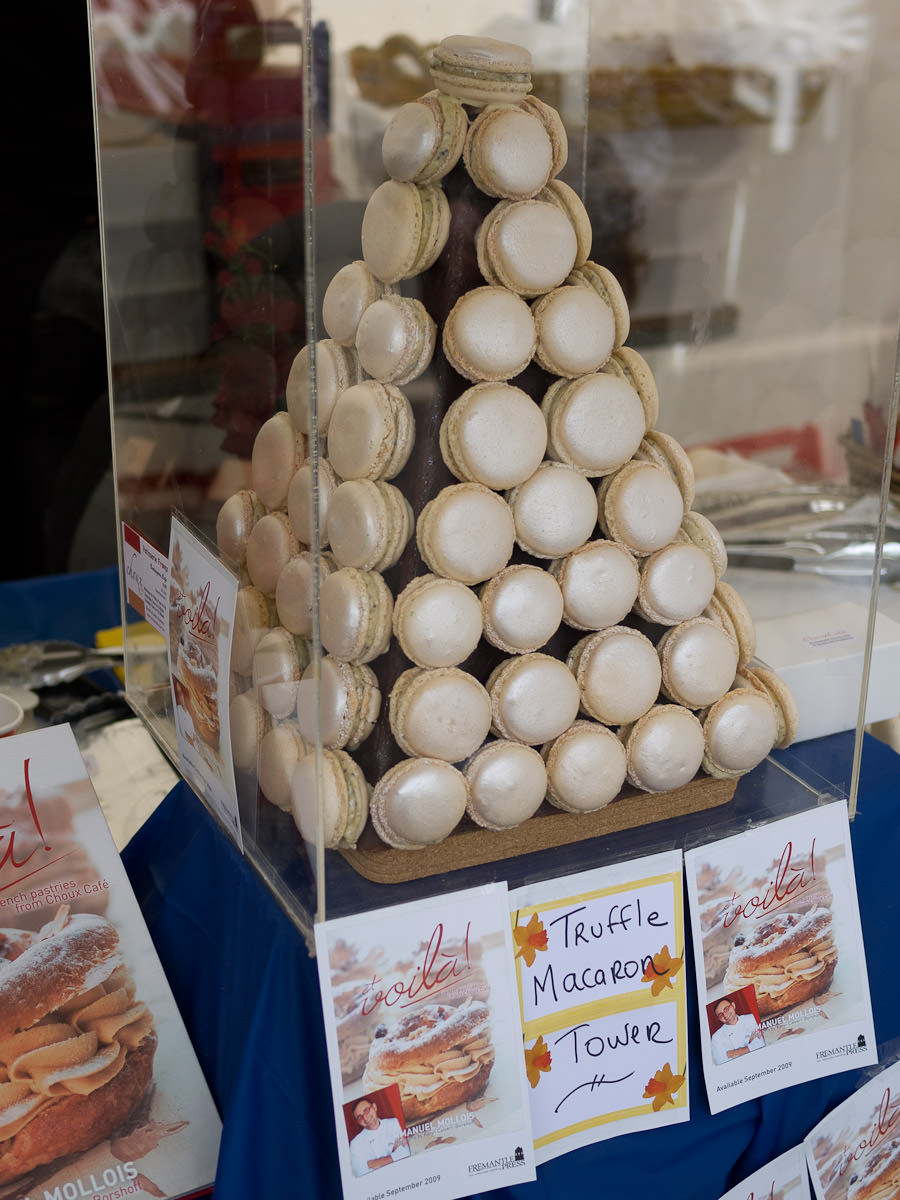 Truffle macaron tower, Choux Cafe