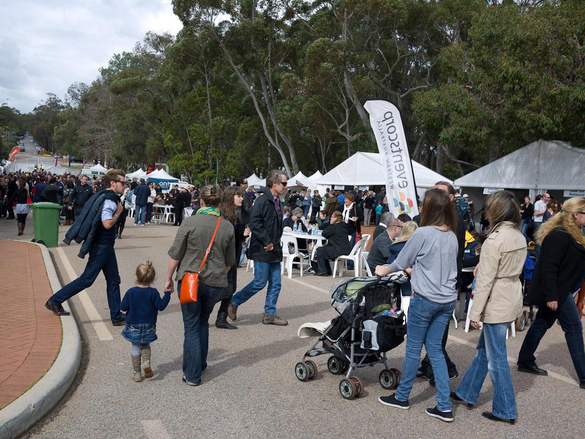 Food Piazza crowds, Truffle Festival