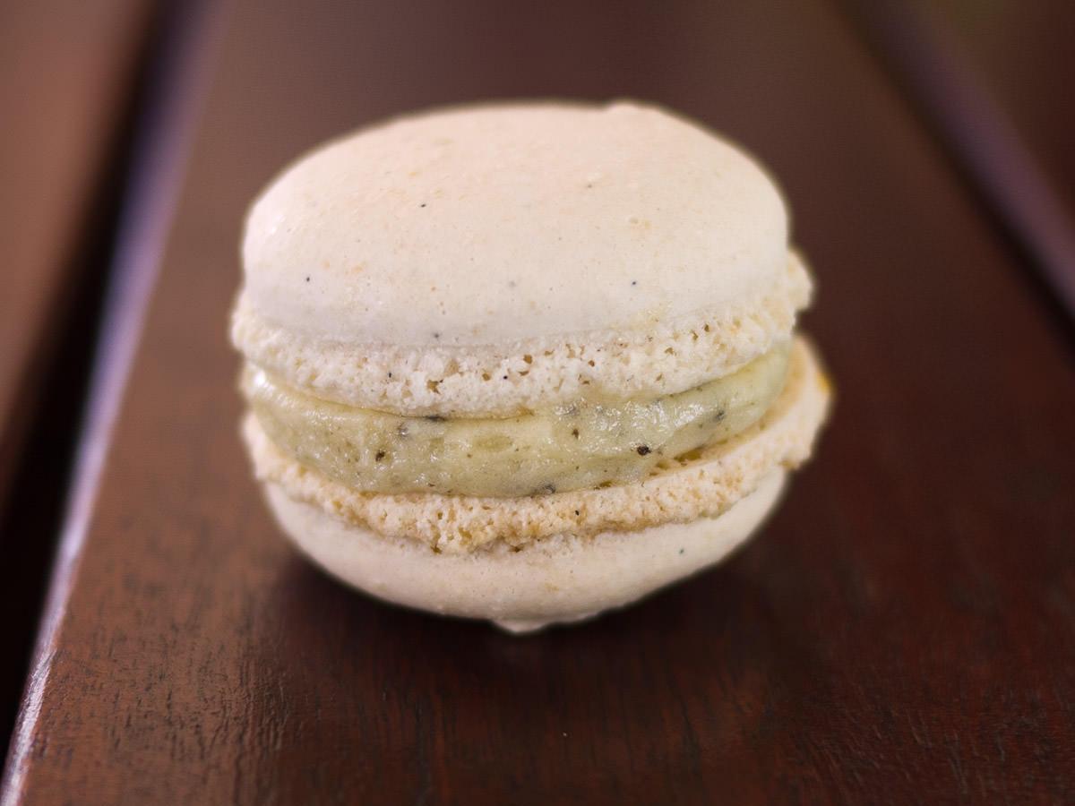 Truffle macaron from Choux Cafe