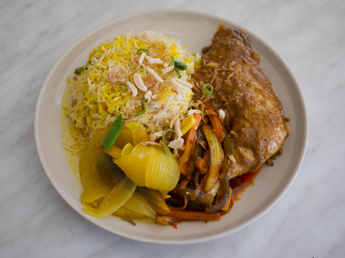 Nasi biryani (AU$10.50, weekend special)
