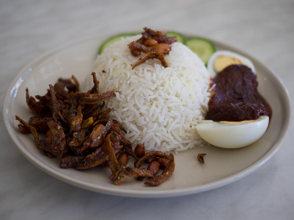 Nasi lemak (AU$8.50)