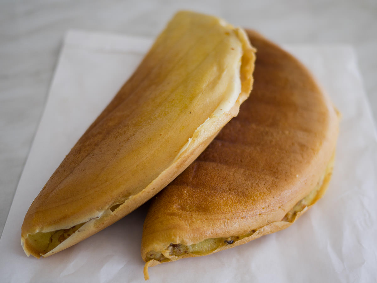 Apom balik (peanut turnover, some call it peanut pancake)