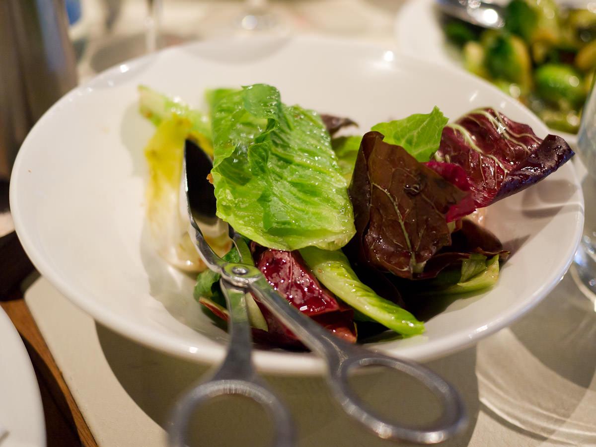 Radicchio, cos and endive salad with palm sugar vinaigrette