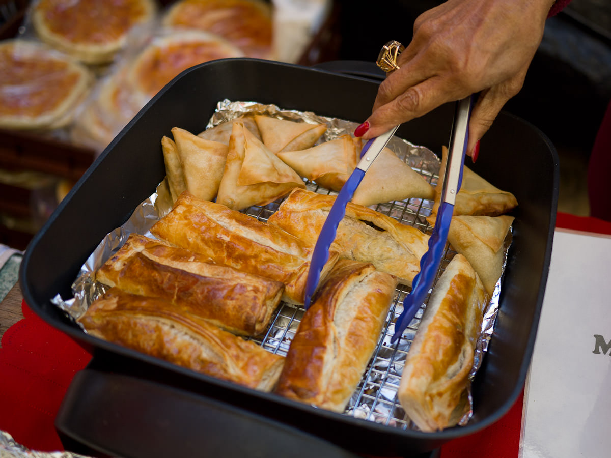 Adele's meat curry puffs and vegetable samosas