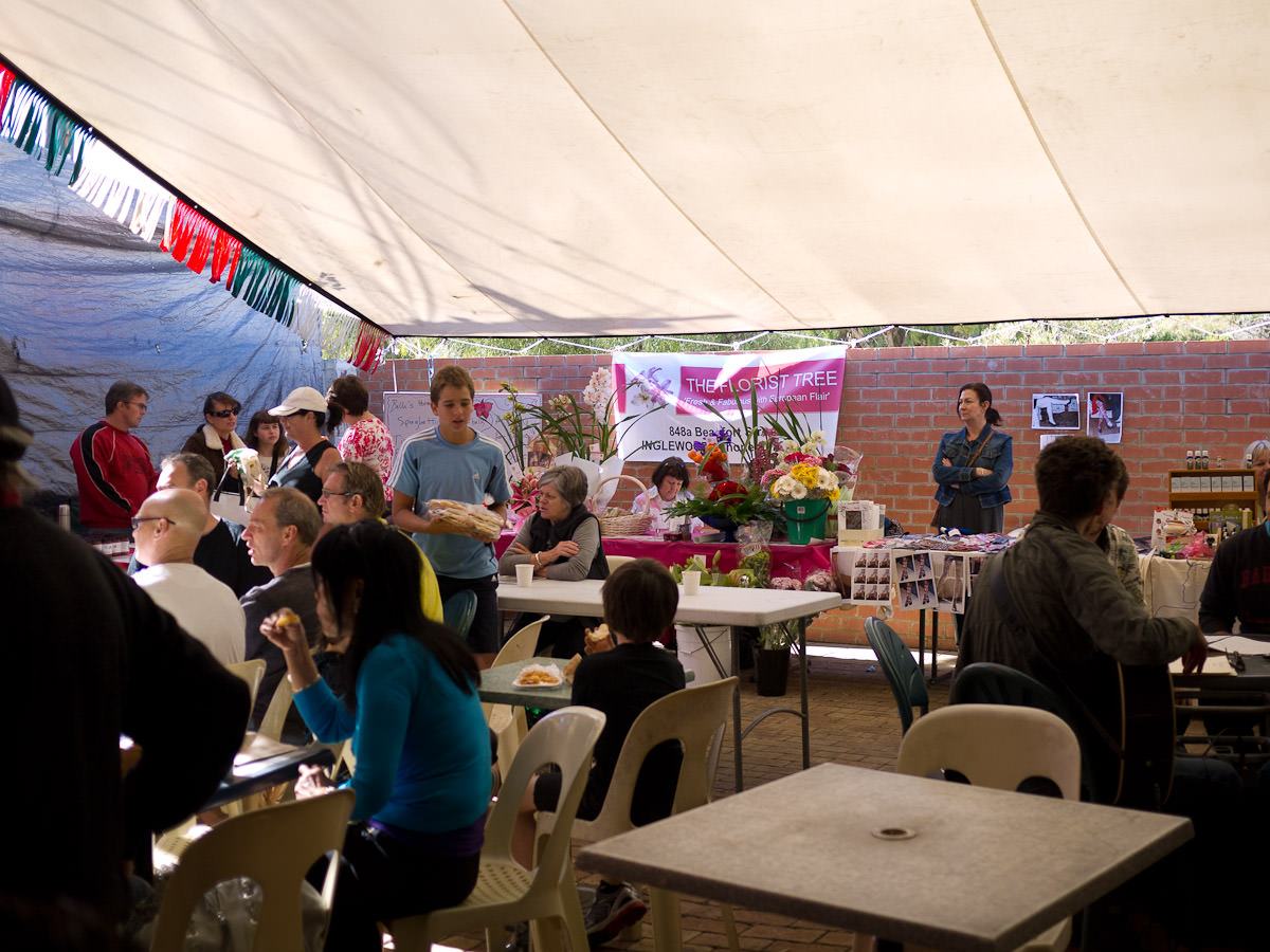Crowds at Mondo Market