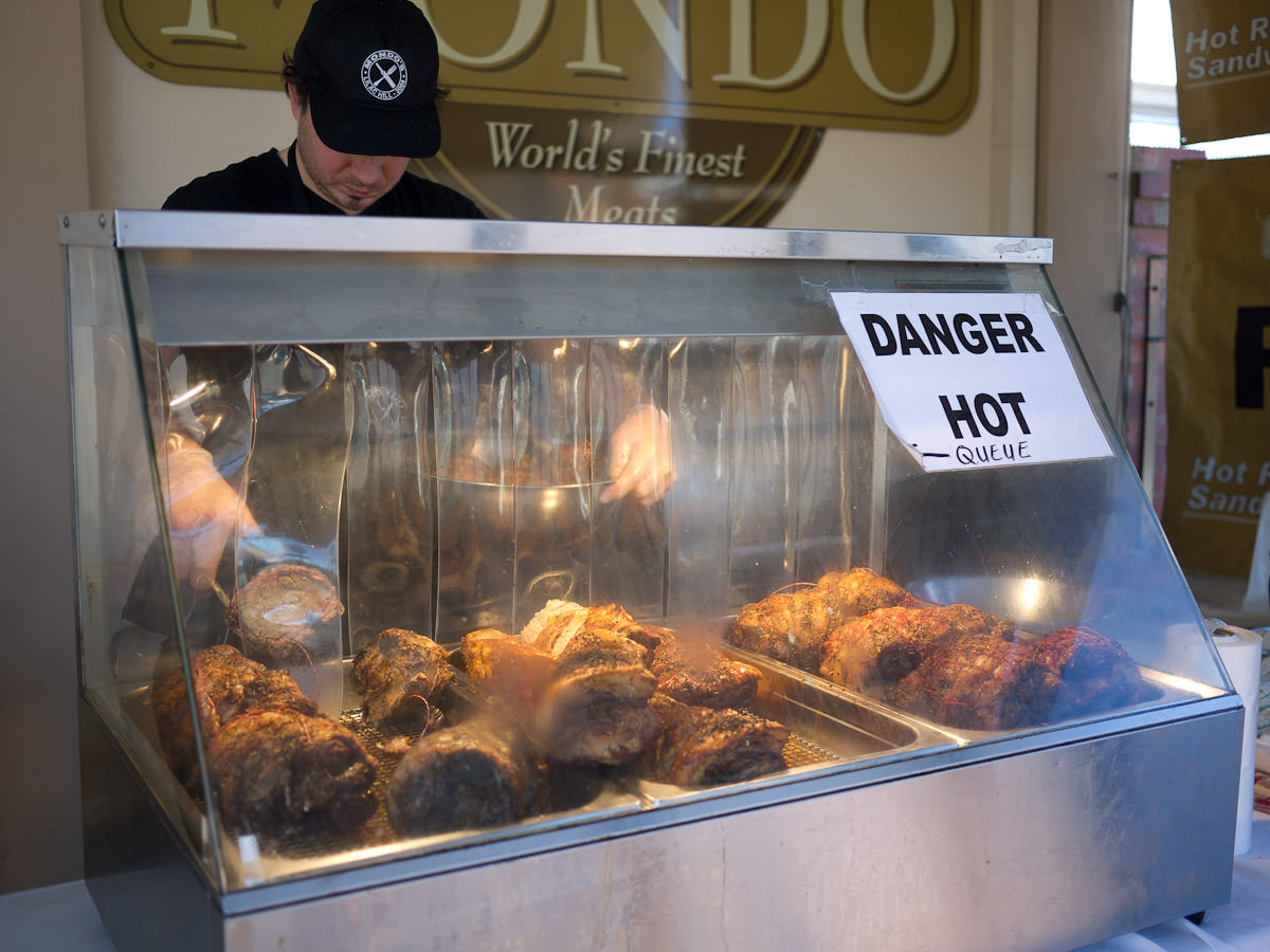 Roast meats at the Mondo roast meat sandwich stand