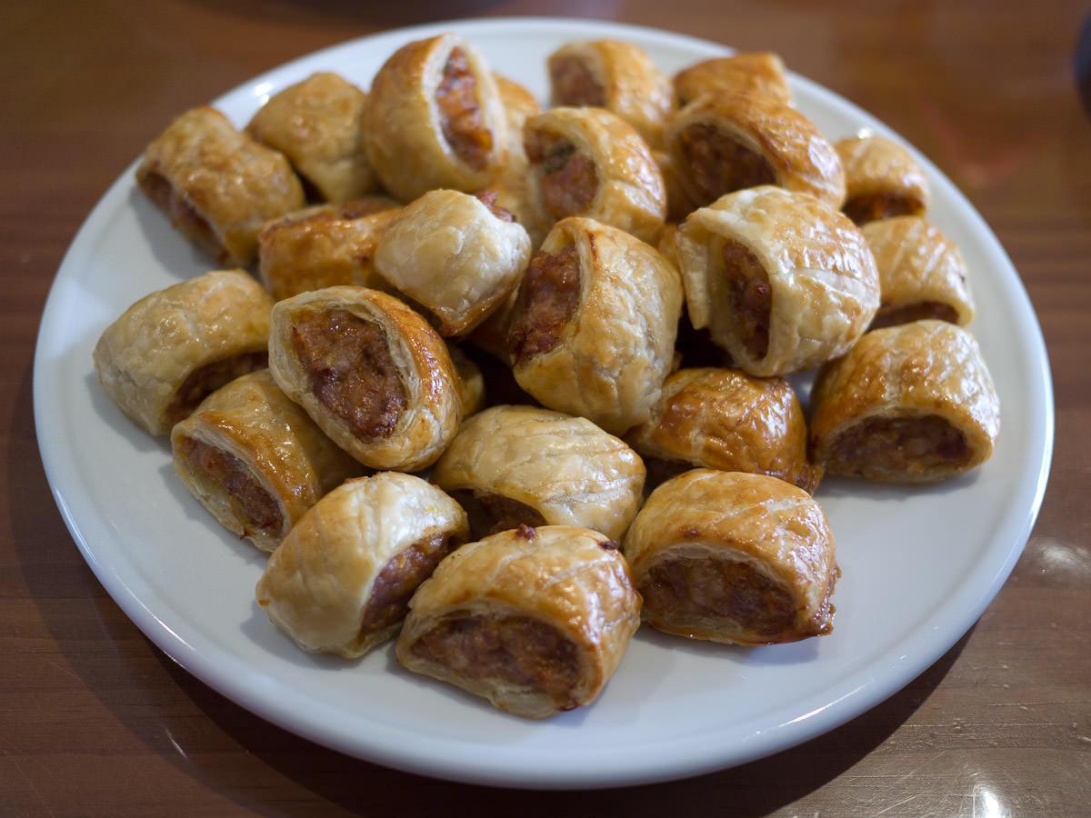 Mini sausage rolls by Juji