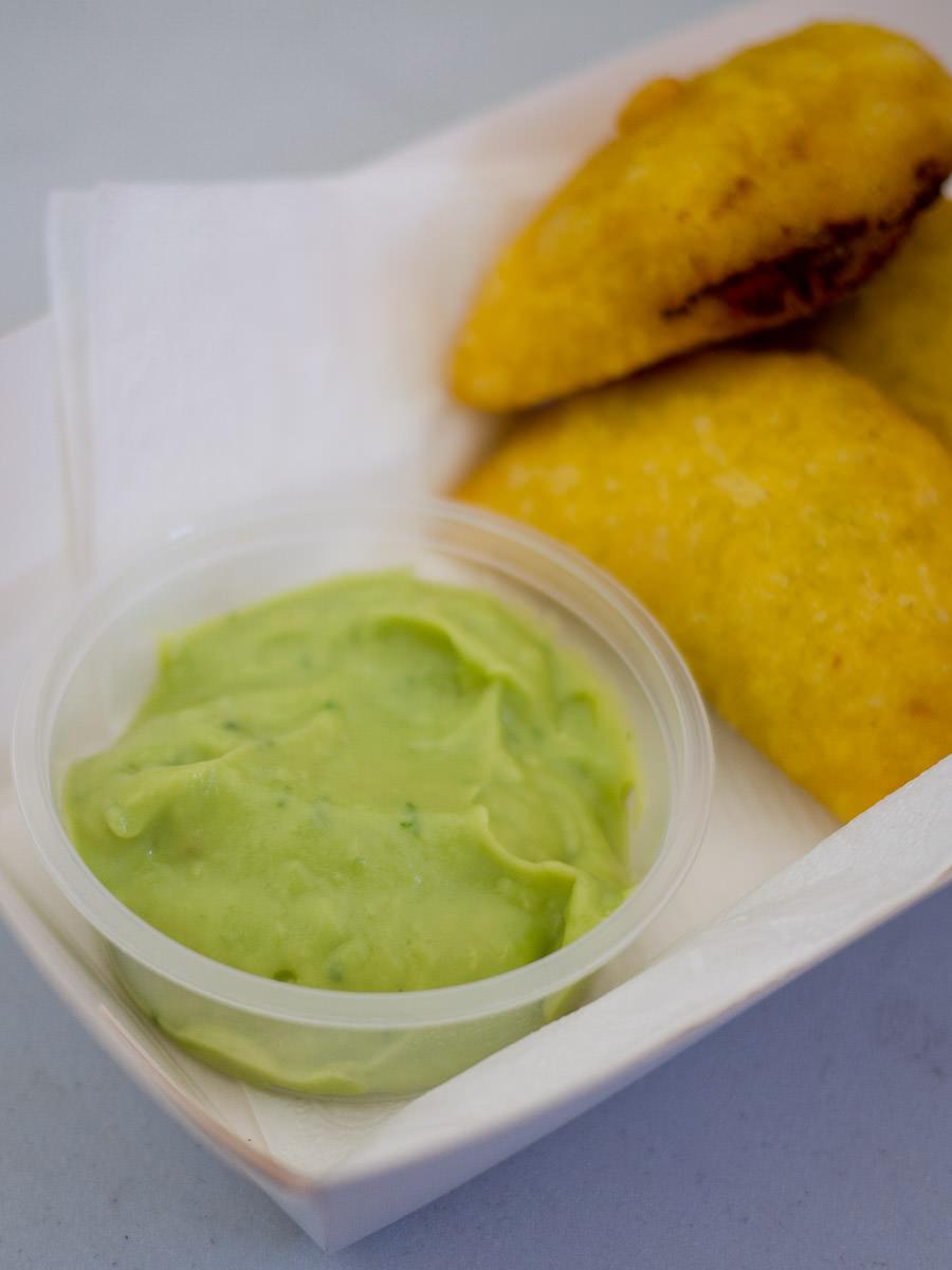 Empanadas with guacamole