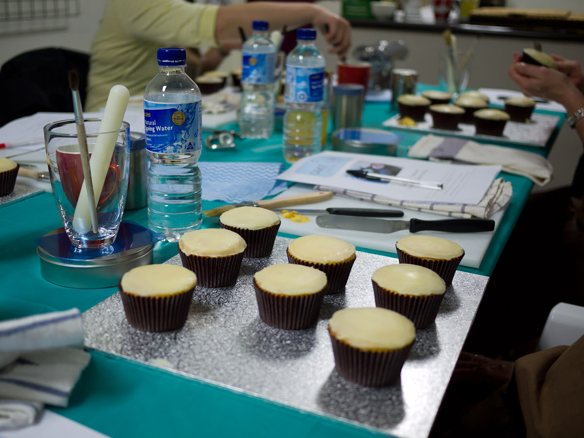 At the cupcake teaser class