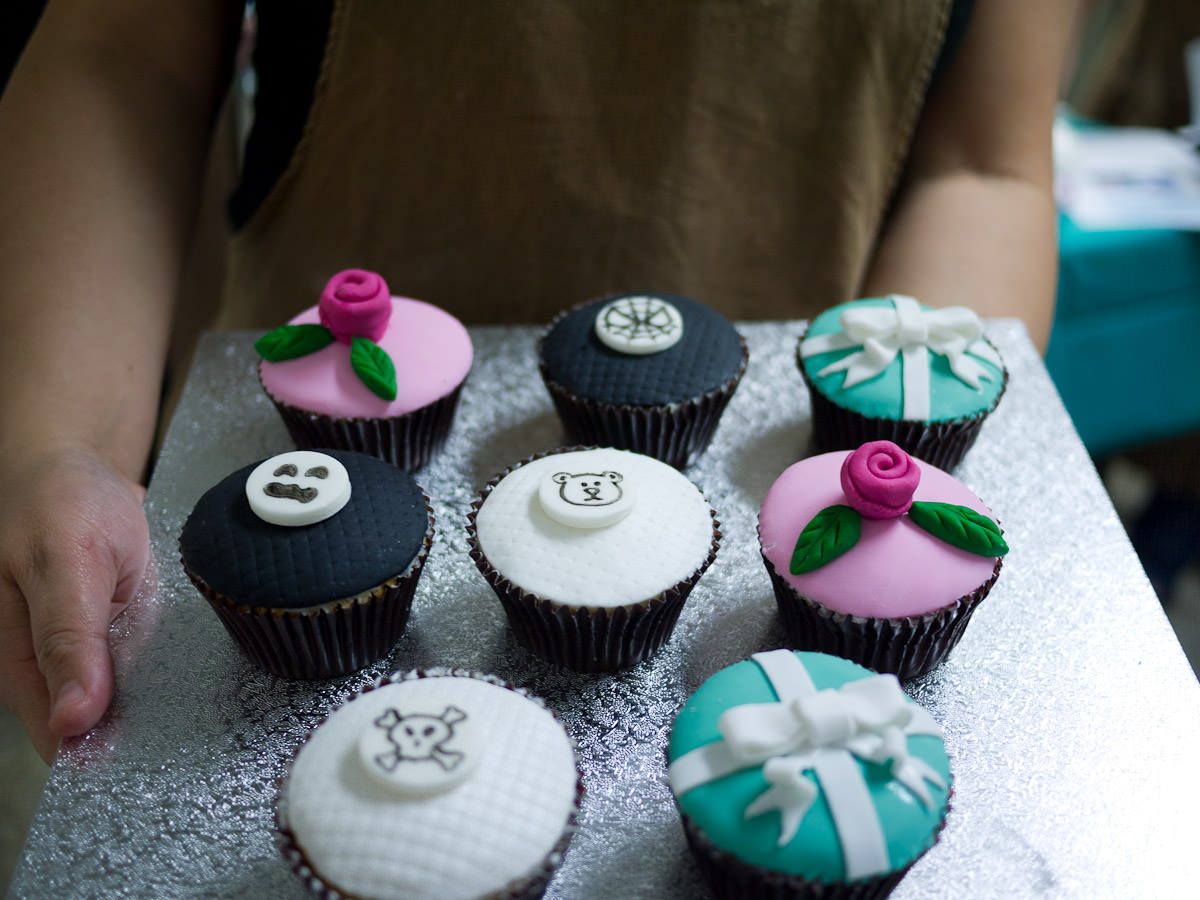 Me and my decorated cupcakes (photo by Winnie Lee)