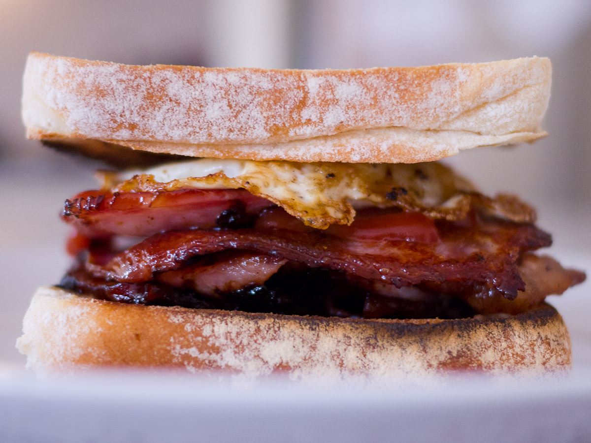 Bacon and egg toasted sandwich