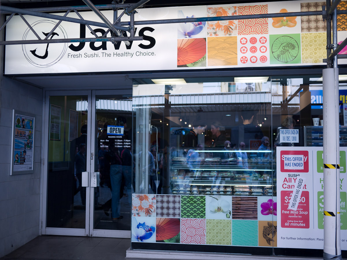 Jaws Sushi, Hay St Mall, Perth - frontage
