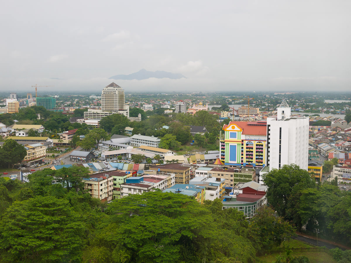 View of Kuching from my hotel window