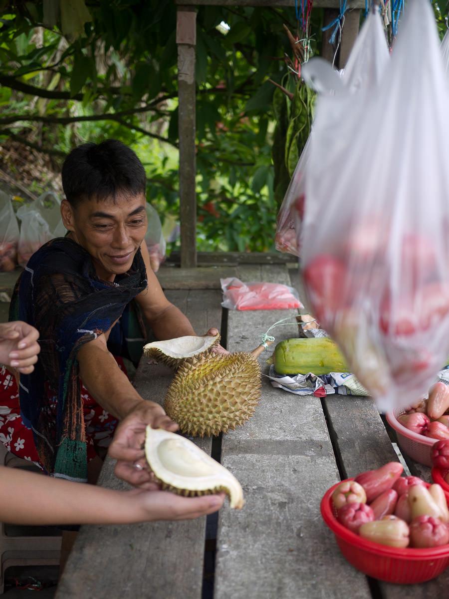 Durian sampler