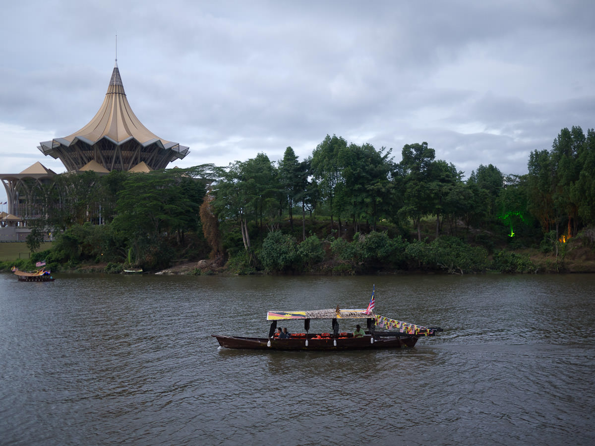 Boats on the Sarawak River