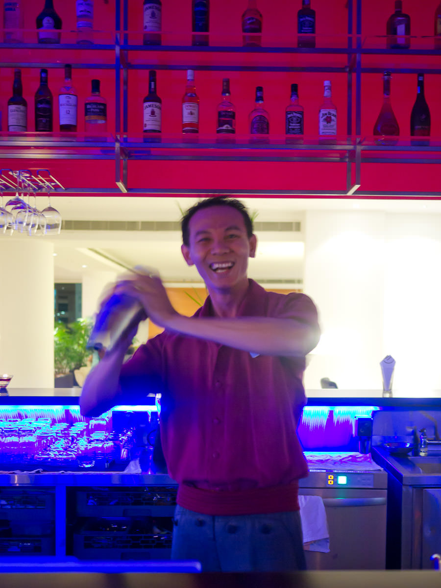 Barman at Déjà Vu, Hotel Pullman Kuching
