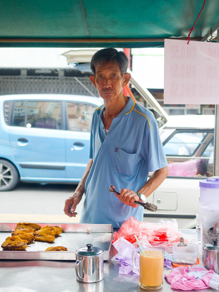 Pisang goreng seller