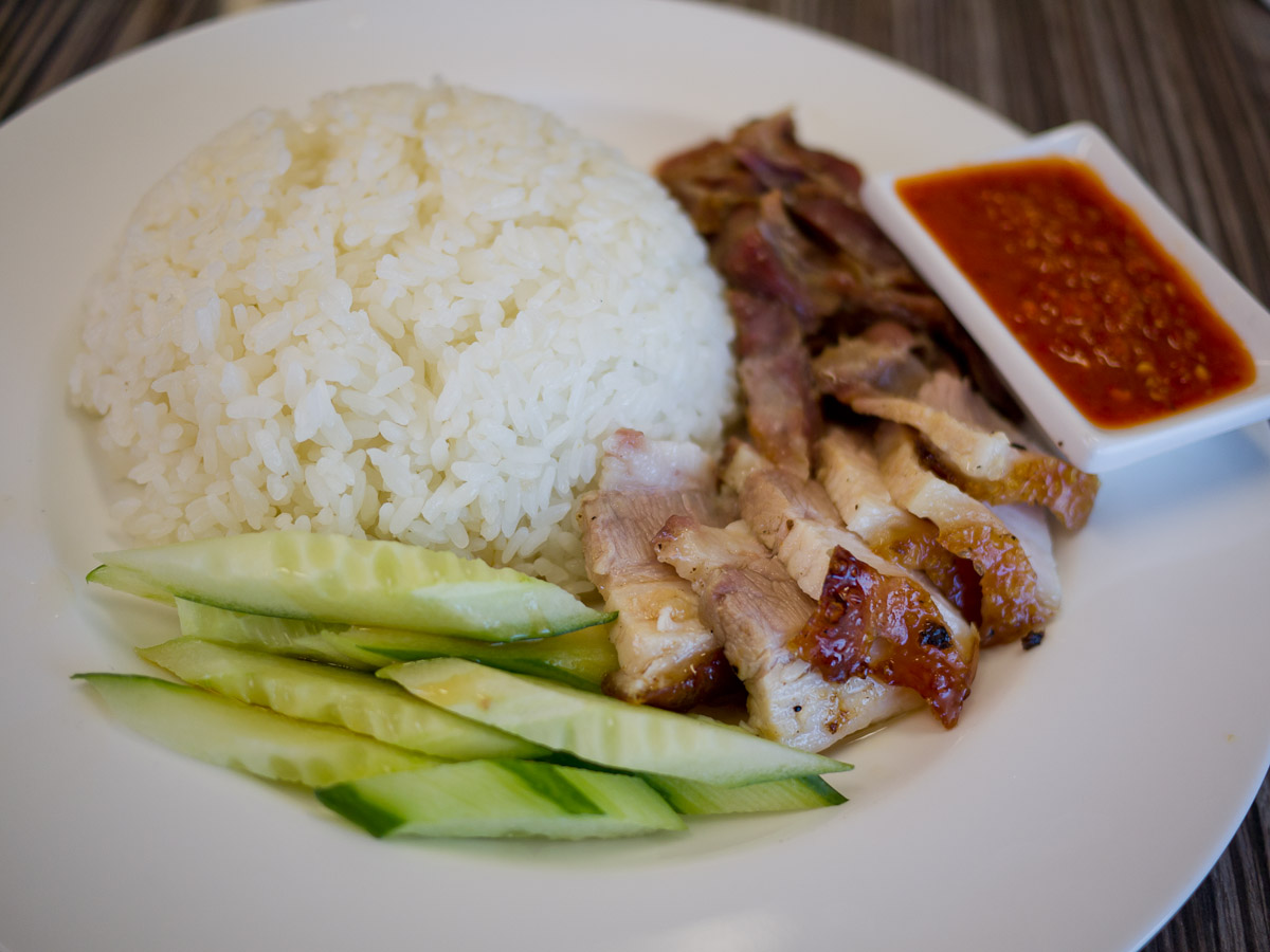 Combination BBQ pork rice (AU$7.90)