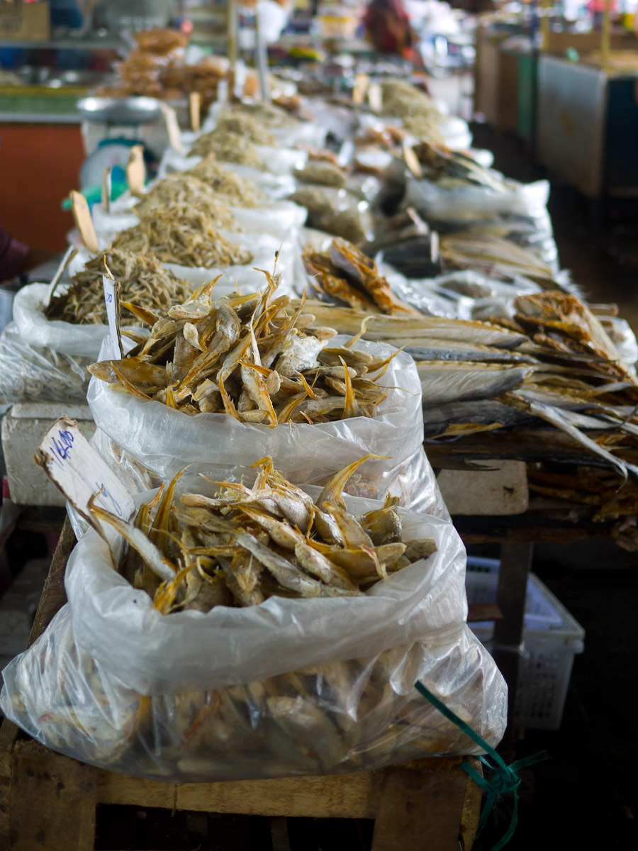 More dried fish and anchovies