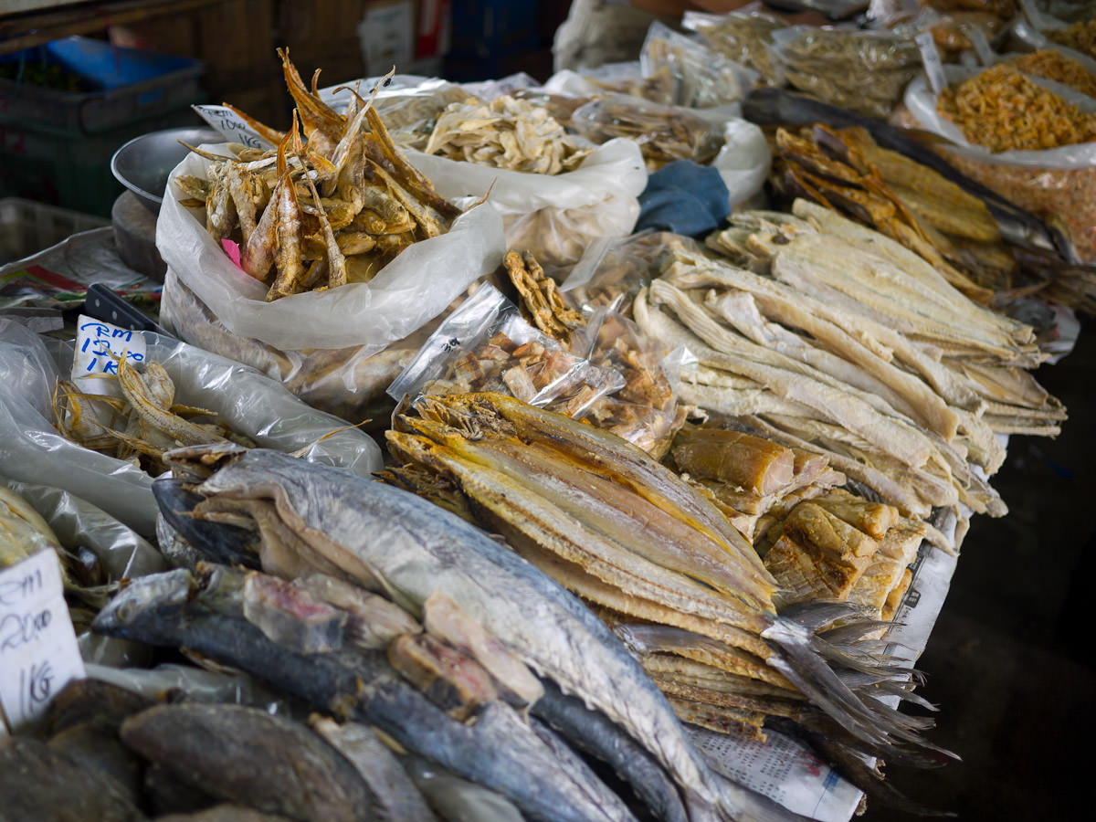 Dried fish and shrimps