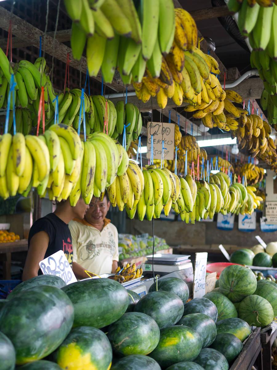 Bananas and melons