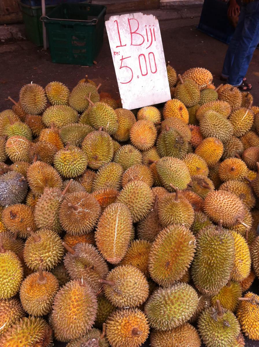 Durians, RM$5 each