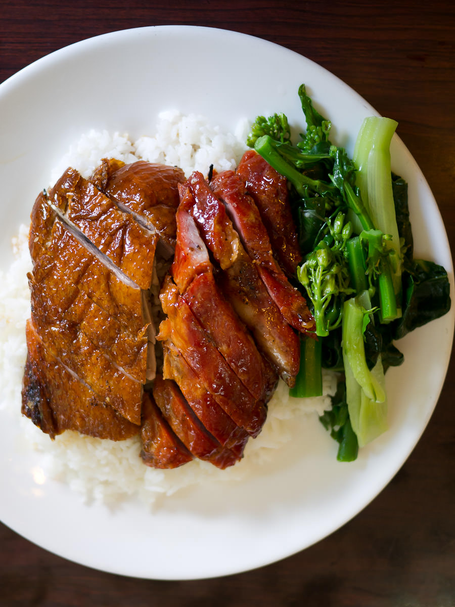 BBQ pork and roast duck with rice (AU$14)