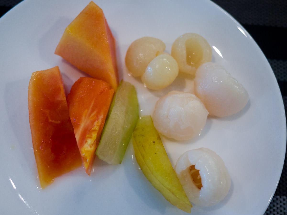 Papaya, lychee, longan, starfruit