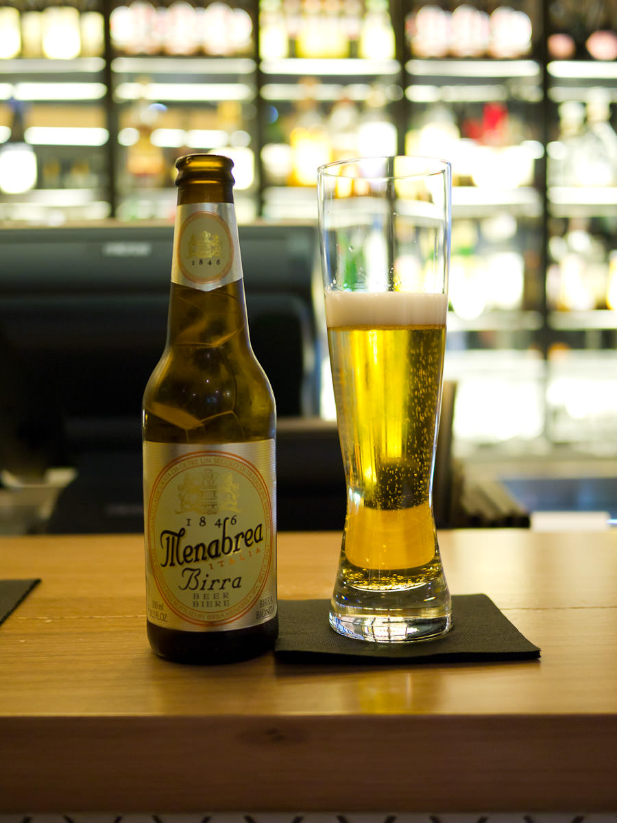 Jay's Menabrea beer, from the Northern Italian region of Piedmont