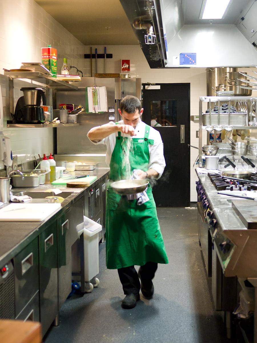 The risotto whisperer at work - this is the man behind the divine saffron risotto