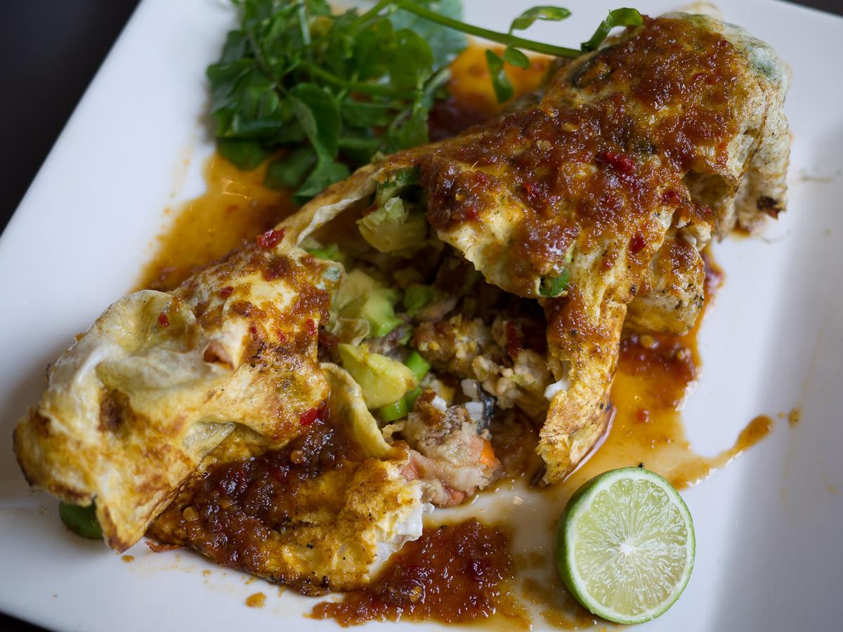 Kara age Crab Omelette - innards (AU$24)