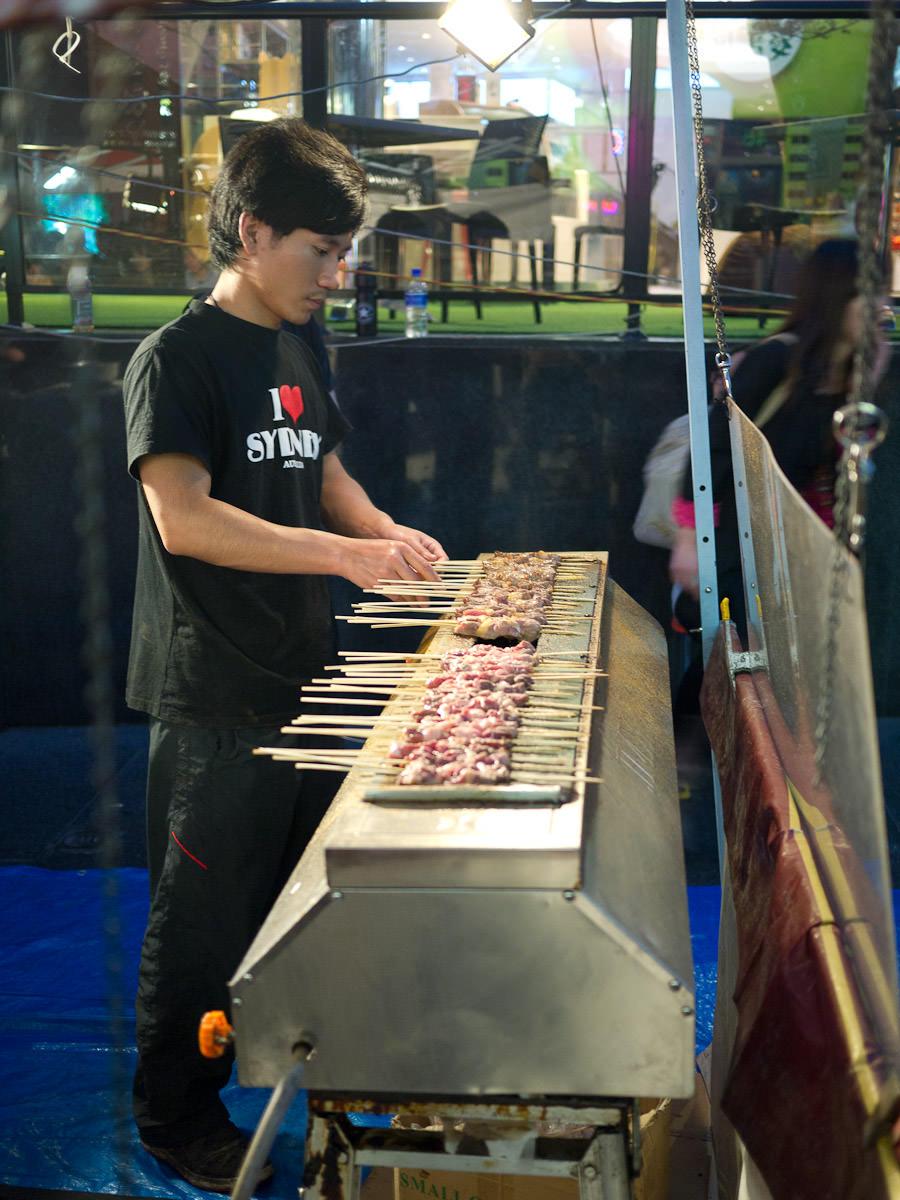 Lamb skewer stall