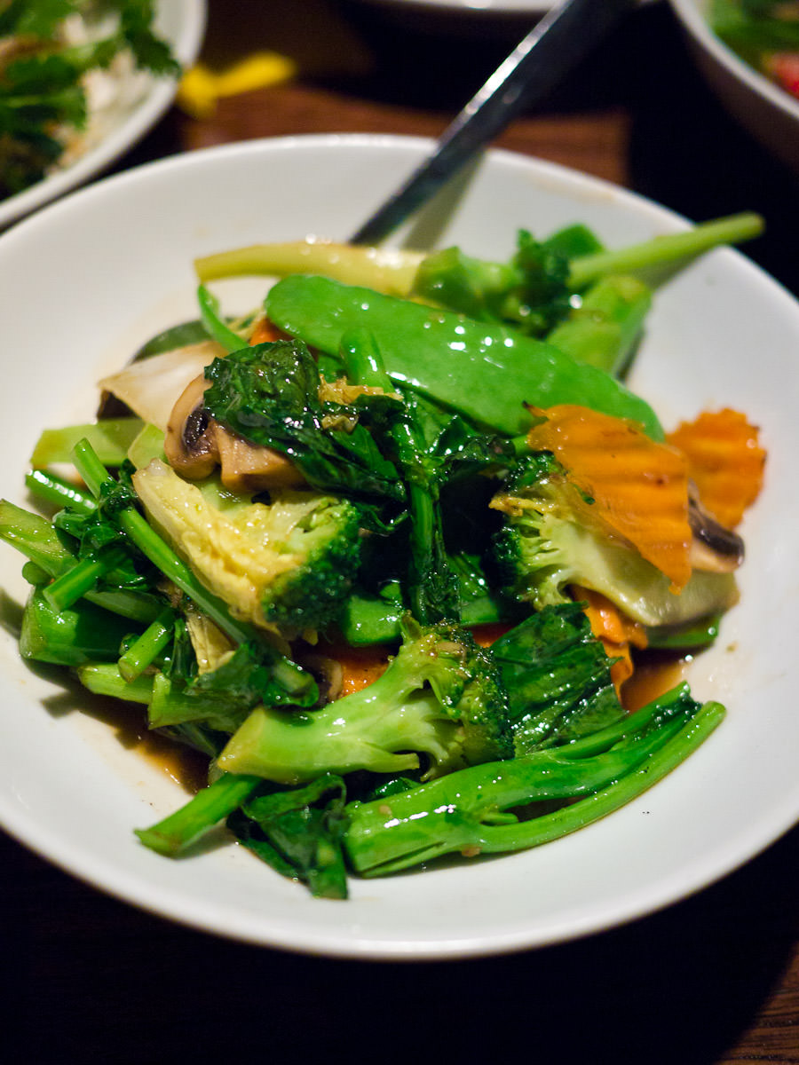 Padt Paak, stir-fried vegetables (AU$11)