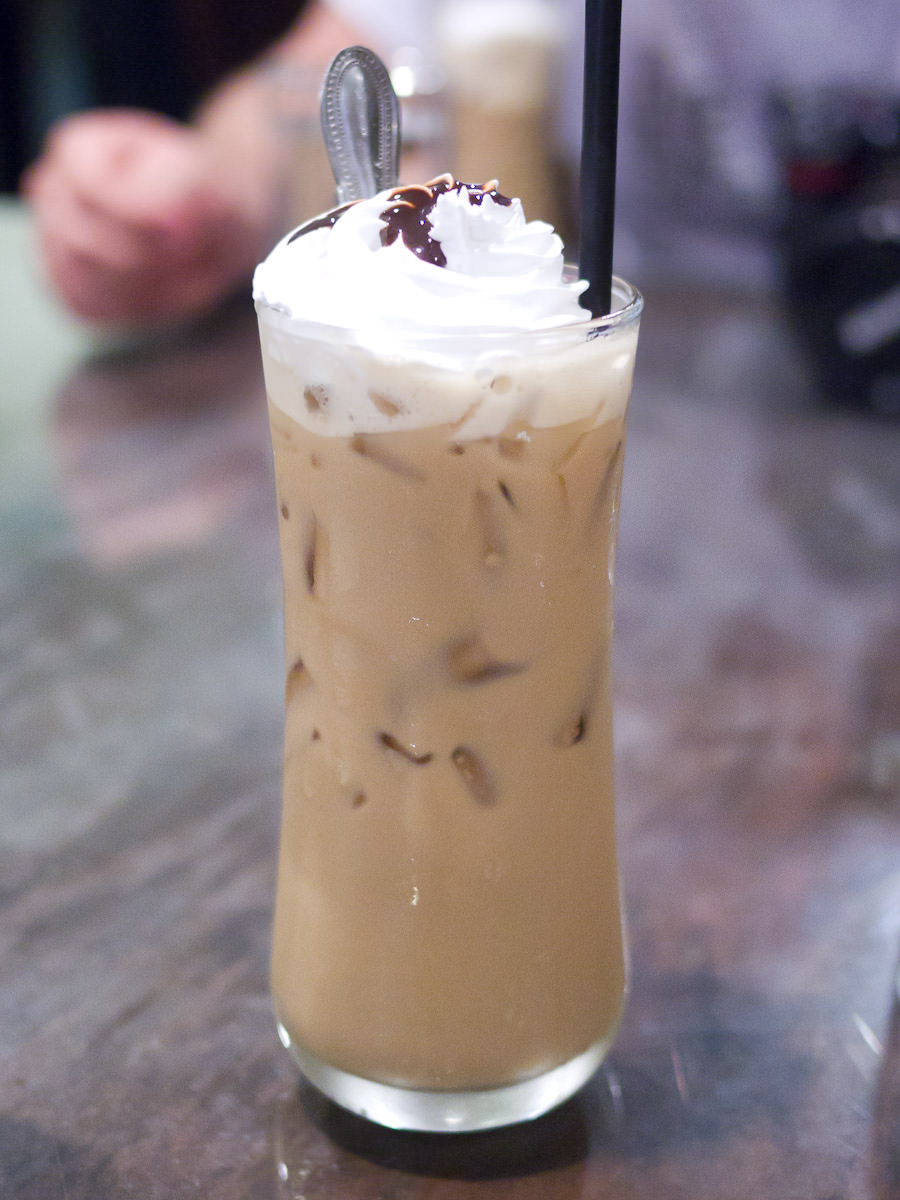 Traditional milky coffee with ice (RM3)
