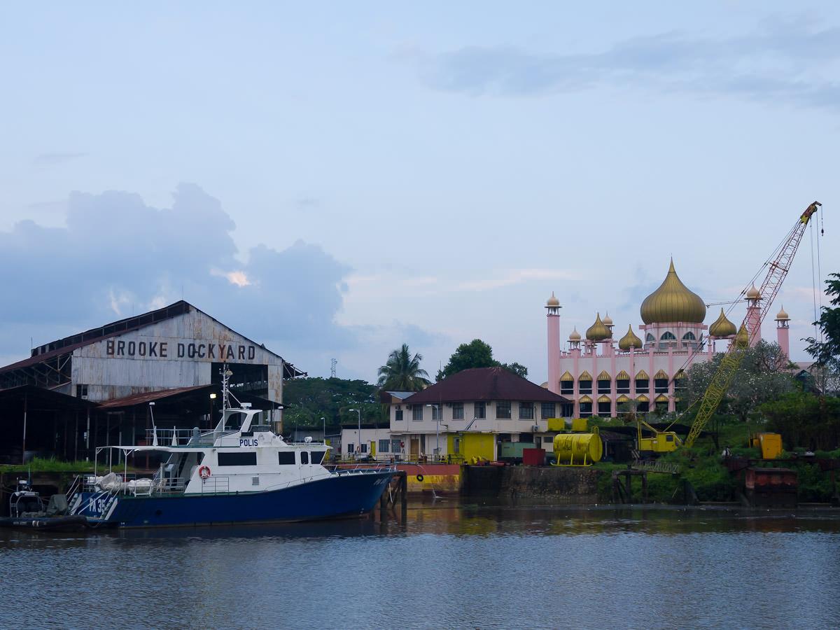 Brooke Dockyard and Kuching State Mosque
