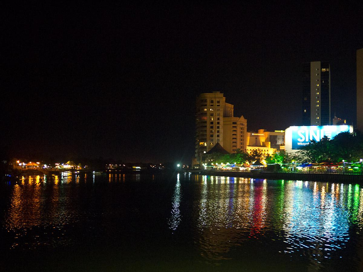 Approaching Kuching Waterfront