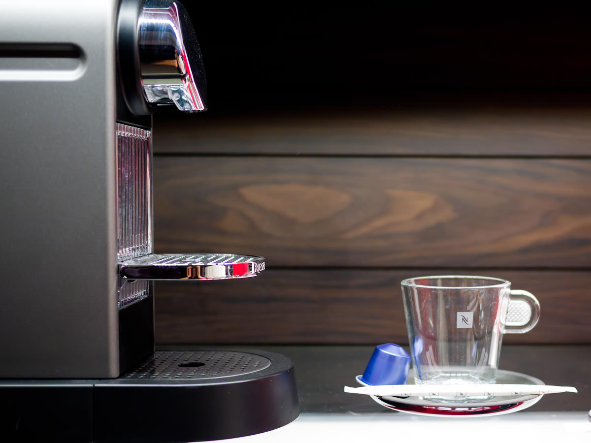 Nespresso machine and espresso cup