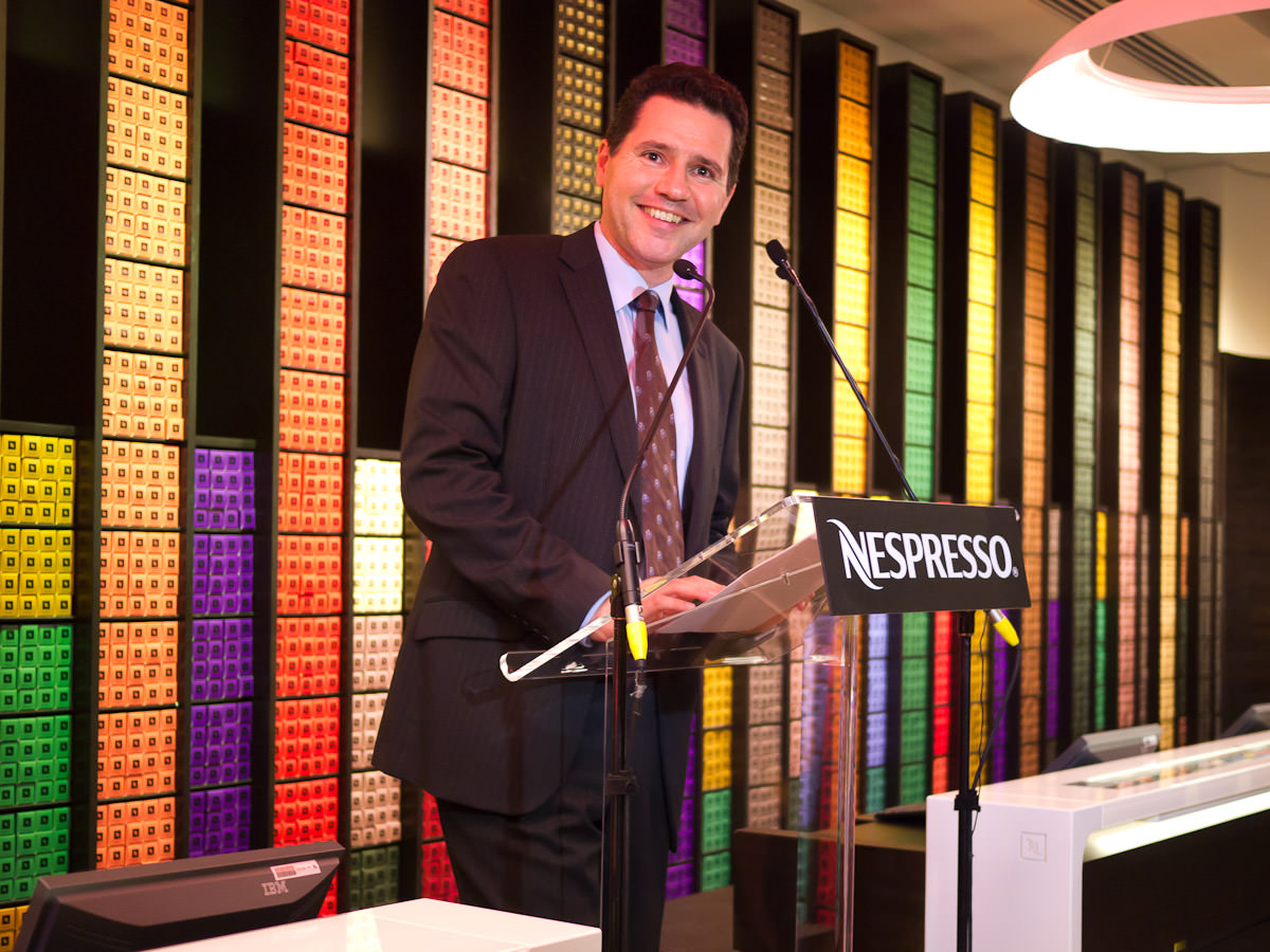 Renaud Tinel, General Manager, Nespresso Oceania addresses the guests
