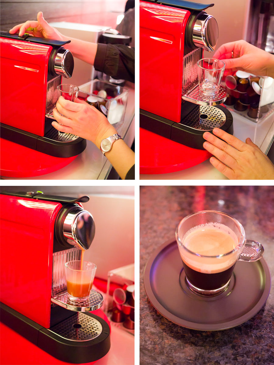 Making a Nespresso coffee