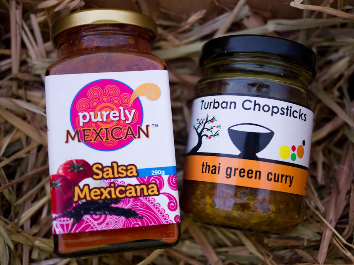 Purely Mexican - Salsa Mexicana 290g and Turban Chopsticks - Thai Green Curry 260g