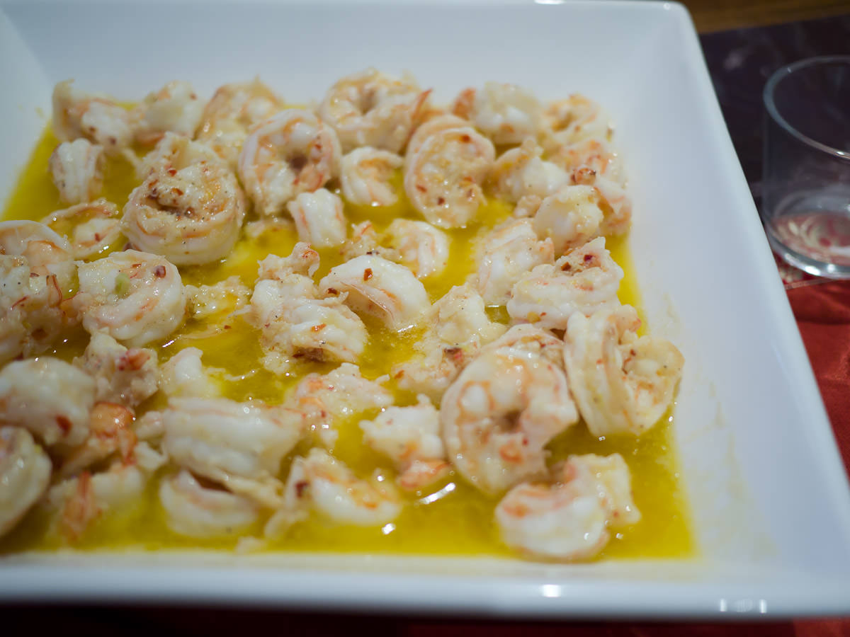 Garlic and chilli prawns
