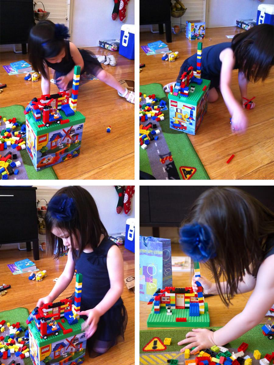 Zoe plays LEGO