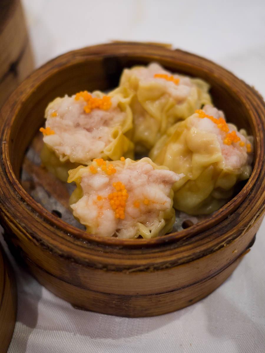 Steamed pork dumplings (siew mai)