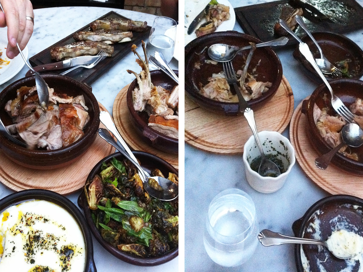 Before and after at Porteño, Surry Hills