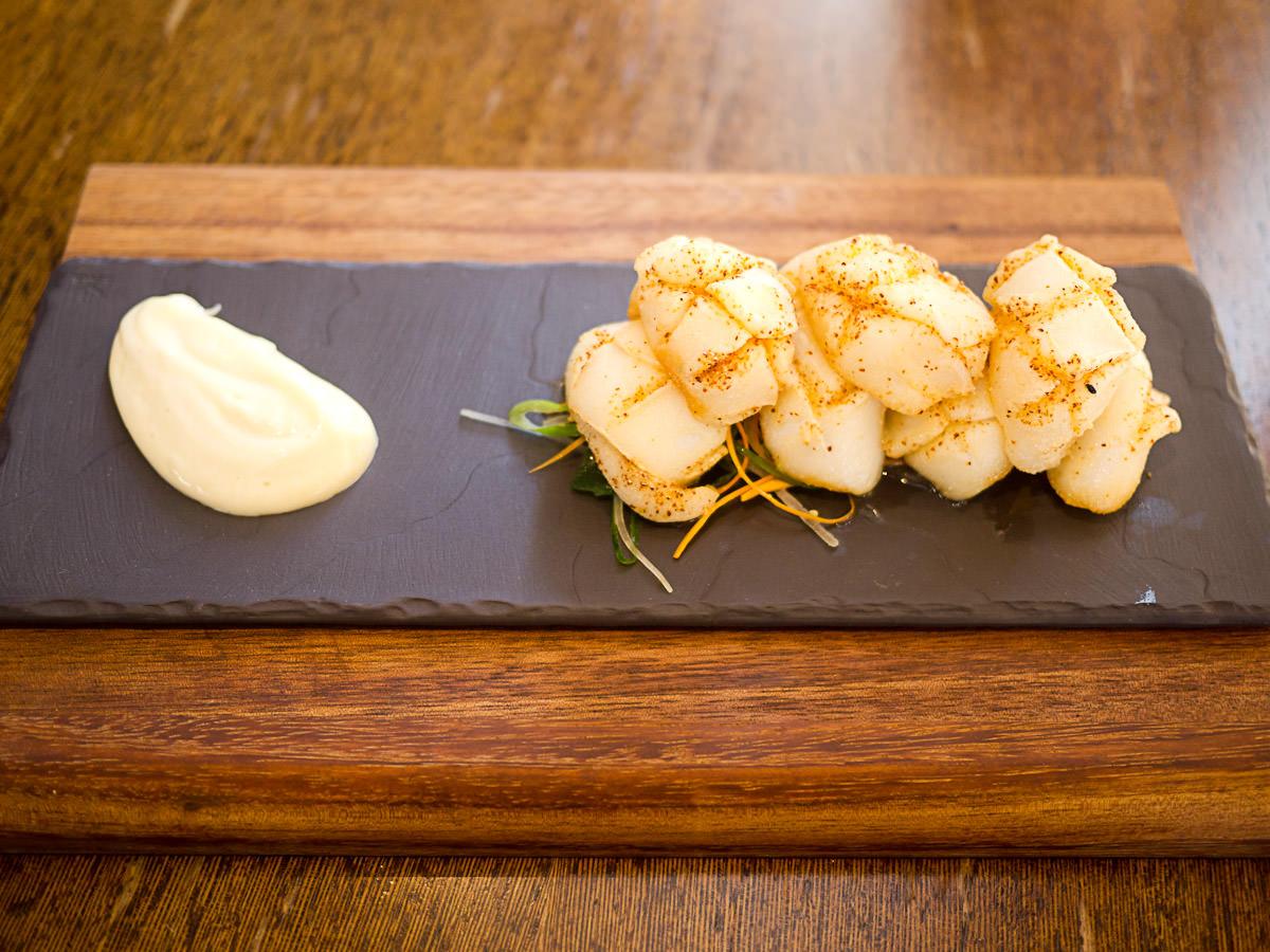 Spiced crispy cuttlefish, wasabi mayo