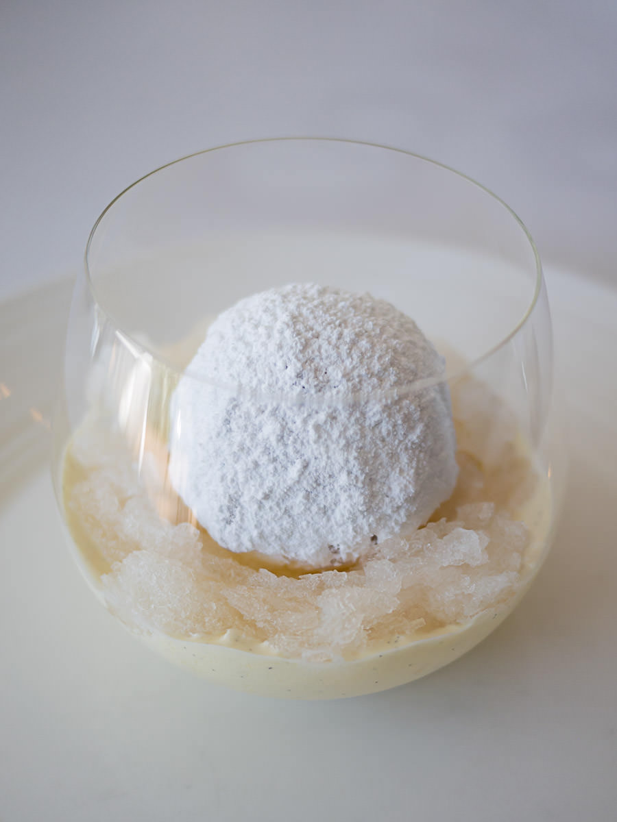 White nectarine snow egg